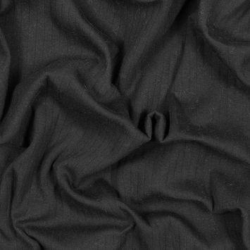 Black 9 x 1 Rib Knit