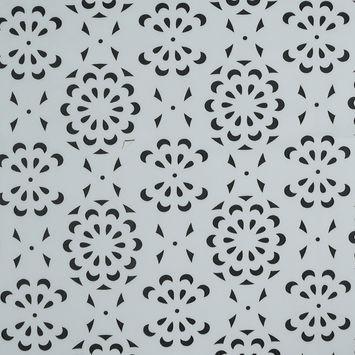 White Floral Laser-Cut Scuba Knit Neoprene