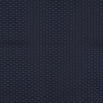 Navy Circular Geometric Quilted Coating