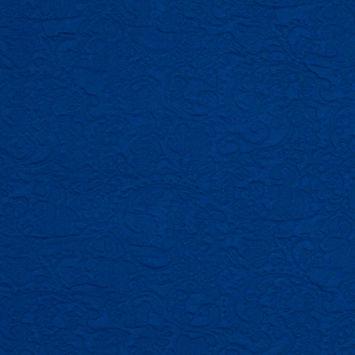 Italian Cobalt Blue Paisley Knit Jacquard