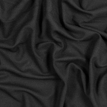 Black Stretch Blended Crepe