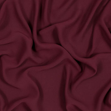 Oxblood Red Polyester Double Georgette