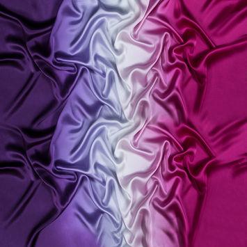 Majesty Purple and Magenta Haze Ombre Silk Charmeuse