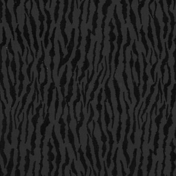Black Denim Flocked with Black Tiger Striped Velvet