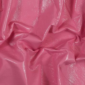 Famous NYC Designer Coral Flannel Backed Crinkled Vinyl