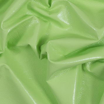 Famous NYC Designer Lime Flannel Backed Crinkled Vinyl