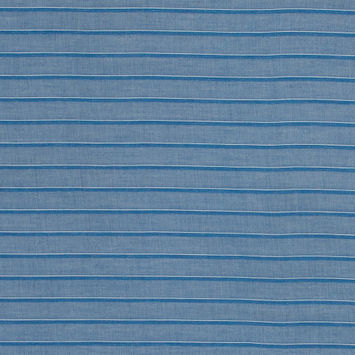 Theory Country Blue and White Shadow Striped Cotton Lawn