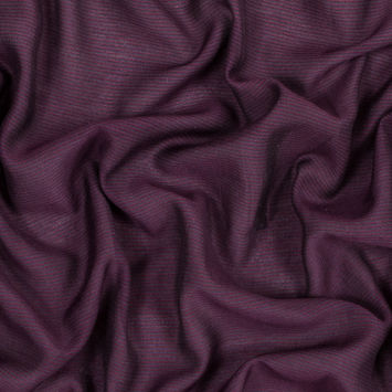 Steven Alan Wine and Burgundy Striped Silk and Cotton Voile