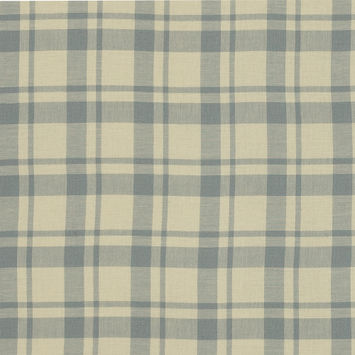 Elephant Gray and Mellow Yellow Plaid Japanese Cotton Twill