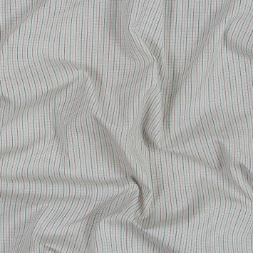 Black, Red, Beige and Blue Checkered Japanese Cotton Shirting