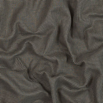 Beige and Black Checkered Cotton Lawn