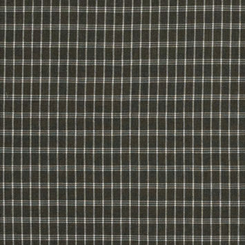 Ivy Green and White Plaid Brushed Japanese Cotton Shirting