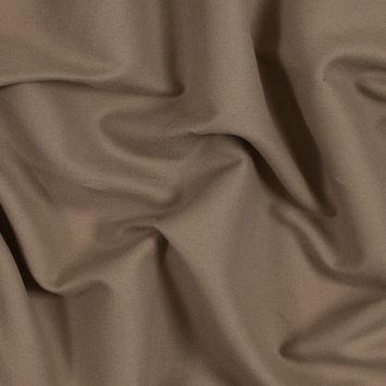 Woodsmoke Brown Brushed Cotton Crepe
