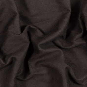 Chocolate Brown Brushed Cotton Twill with Flannel Backing