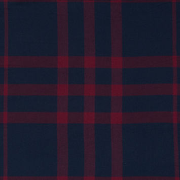 Navy and Red Plaid Double-Sided Cotton Flannel