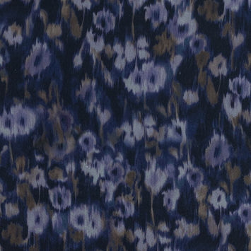 Carolina Herrera Purple Abstract Printed Silk Organza
