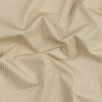 Boulder Beige Stretch Striped Cotton Dobby Jacquard