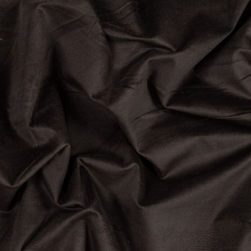 Dark Brown Stretch Cotton Velveteen