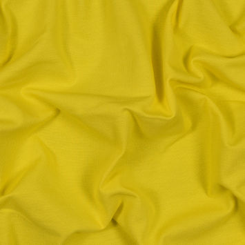Yellow Cotton Knit Pique