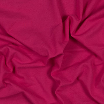Hot Pink Cotton Knit Pique