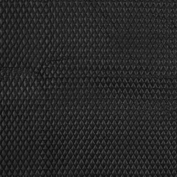 Black Faux Leather Diamond Quilted Coating