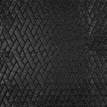 Black Geometric Quilted Coating