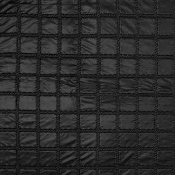 Black Square Quilted Coating