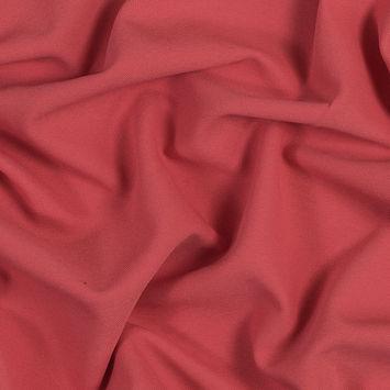 Oscar de la Renta Coral Viscose and Virgin Wool Stretch Twill