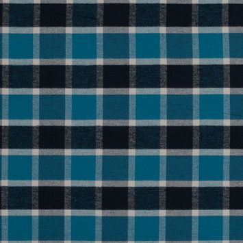 Corsair Blue Plaid Cotton Flannel