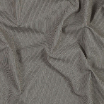 Calvin Klein Beige and Blue Striped Cotton Suiting