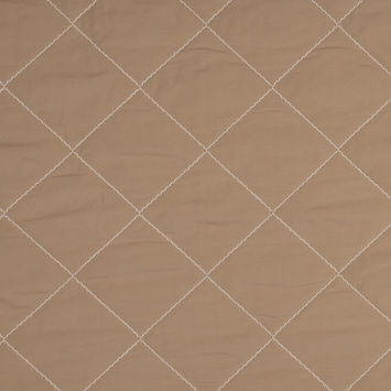 Warm Beige Quilted Coating with Filler