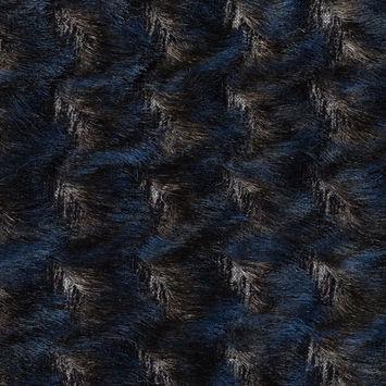 Blue and Black Chevron Fringe Fabric