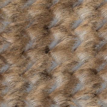 Beige and White Chevron Fringe Fabric