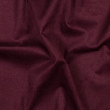 Burgundy True Heavy Scuba Knit Suede