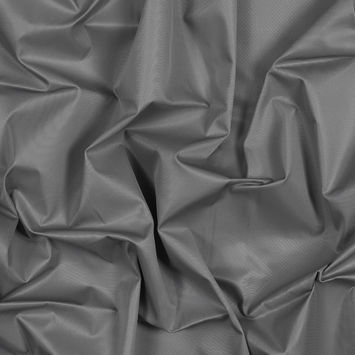 Gray Water-Resistant Polyester Twill