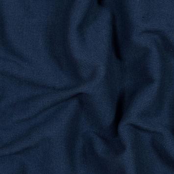 Ensign Blue Tubular Cotton Rib Knit