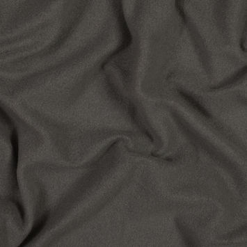 Charcoal Cotton and Polyester Brushed Fleece