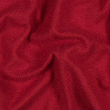 Rich Red Cotton and Polyester Brushed Fleece