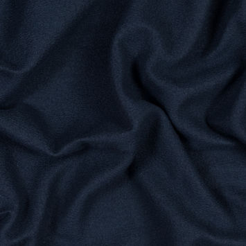 New Navy Cotton and Polyester Brushed Fleece