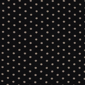Black and Desert Taupe Polka Dotted and Striped Jacquard Double Knit