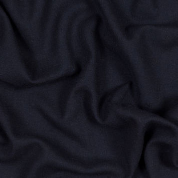 Dark Navy Loosely Woven Wool with Faint Chevron Pattern