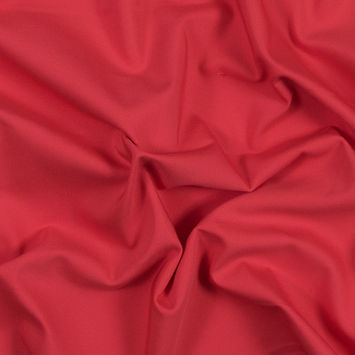 Red Coral Stretch Polyester and Viscose Woven