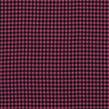 Pink and Black Shepherd's Check Voile