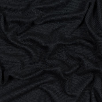 Black Viscose Knit Jacquard