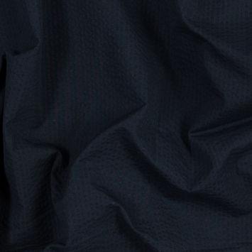 Dark Navy Cotton Seersucker
