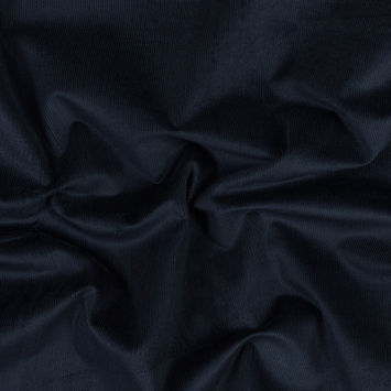 Midnight Blue Stretch Cotton Corduroy