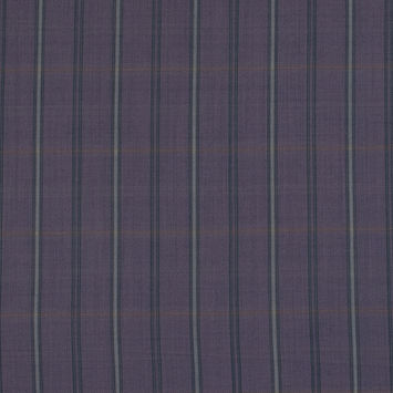 Purple and Gray Plaid Super 130 Wool Suiting