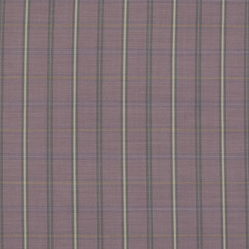 Pink and Yellow Plaid Super 130 Wool Suiting