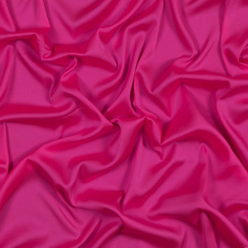 Pink Stretch Polyester Crepe de Chine