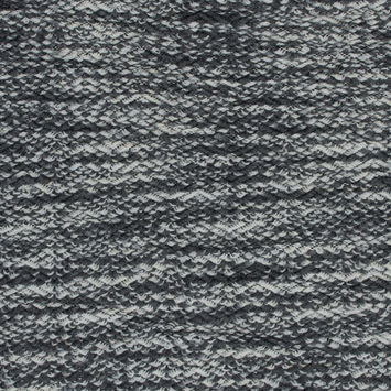 Gray and White Wool Knit with Zig Zag Loops